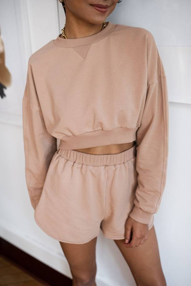 Bluse Brielle Warm Taupe